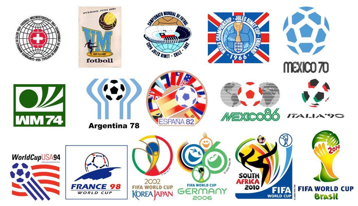Penampakan Logo Laga Bola Akbar Dari Masa Ke Masa Foto