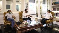Menteri Agama sekaligus Ketua DPP Partai Kebangkitan Bangsa (PKB), Yaqut Cholil Qoumas bertemu Ketum PKB Muhaimin Iskandar. (Ist)