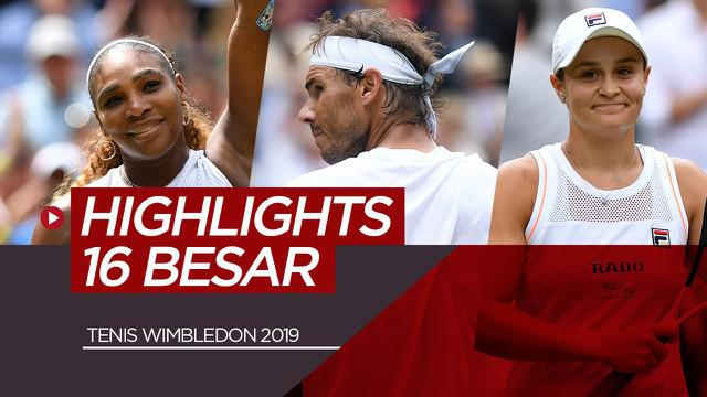 Berita Video 16 Besar Tenis Wimbledon 2019, Kejutan di Tunggal Putri dan 3 Unggulan Tunggal Putra lolos