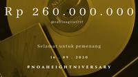 Piringan Hitam Gold Edition NOAH Terjual ke Tangan Raffi Ahmad Senilai Rp 260 Juta. (instagram.com/noah_site)