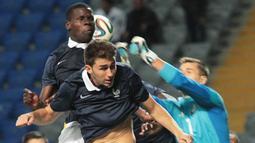 Aymeric Laporte belum sekalipun dipanggil Didier Deschamps untuk bermain di Timnas senior Prancis. Hal itu juga lah yang membuat ia lebih memilih pindah kewarganegaraan agar bisa memperkuat Spanyol. (AFP/Stanislav Filippov)