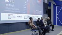 Duta Besar Inggris, Moazzam Malik di acara pembukaan UK/ID di Bandung, Jawa Barat. (Dokumentasi British Council)