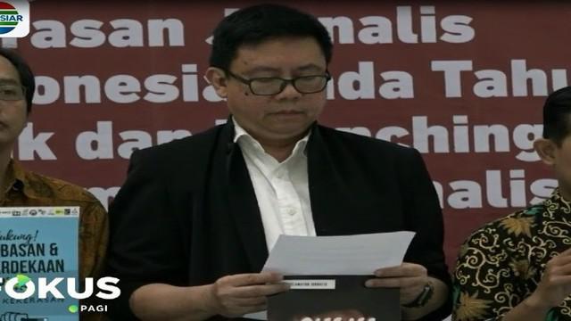 Deklarasi dilakukan di Gedung Dewan Pers dan disaksikan Ketua Dewan Pers Yosef Adi Prasetyo.