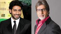 Ayah dan anak, Amitabh Bachchan dan Abhishek Bachchan akan terbang ke Brasil untuk menonton semi final dan final Piala Dunia.