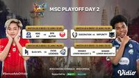 MLBB Southeast Asia Cup dapat disaksikan melalui platform Vidio, Bola.com, dan Bola.net. (Dok. Vidio)