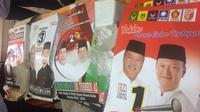 Alat Peraga Kampanye (APK) dan bahan kampanye yang sudah dibagikan ke empat paslon Pilkada Muara Enim(Www.sulawesita.com)