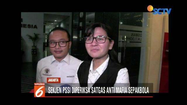 Sekjen PSSI Ratu Tisha kembali diperiksa Satgas Antimafia Sepakbola atas kasus pengaturan skor Liga 2 antara PSS Sleman melawan Madura FC.