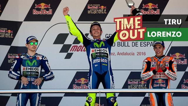 Berita video Time Out kali ini tentang Valentino Rossi yang dituding Jorge Lorenzo meniru pola latihan fisiknya.