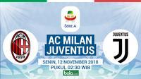 Serie A 2018-2019 AC Milan vs Juventus (Bola.com/Adreanus Titus)