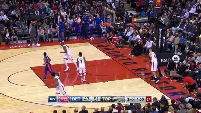 Berita video game recap NBA 2017-2018 antara Toronto Raptors melawan Detroit Pistons dengan skor 96-91.