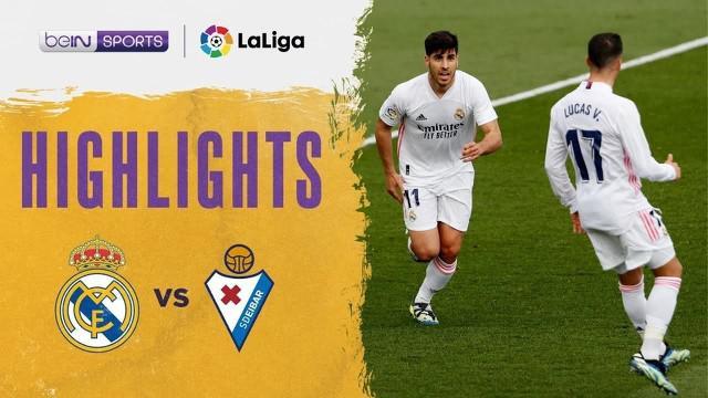 Berita video highlights kemenangan Real Madrid 2-0 atas Eibar pada pekan ke-29 Liga Spanyol 2020/2021, di mana Marco Asensio menorehkan gol mengesankan, Sabtu (3/4/2021) malam hari WIB.