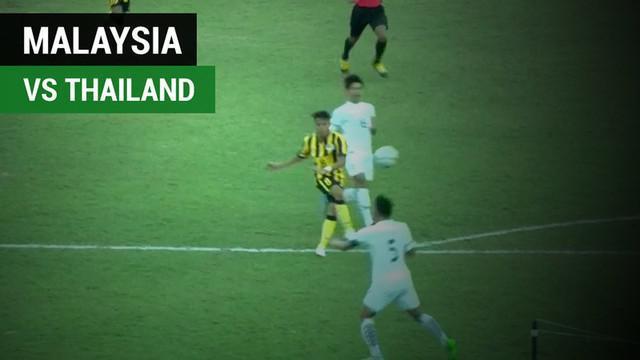 Berita video highlights Piala AFF U-18 2017 antara Malaysia melawan Thailand yang berakhir dengan skor imbang 1-1, Selasa (12/9/2017).