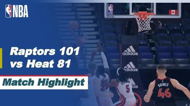 Berita Video Highlights NBA, Miami Heat Kalah Melawan Toronto Raptors 81-101 81-101 (23/1/2021)