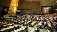 Sidang darurat Majelis Umum PBB di New York (21/12/2017). (AP Photo/Mark Lennihan)