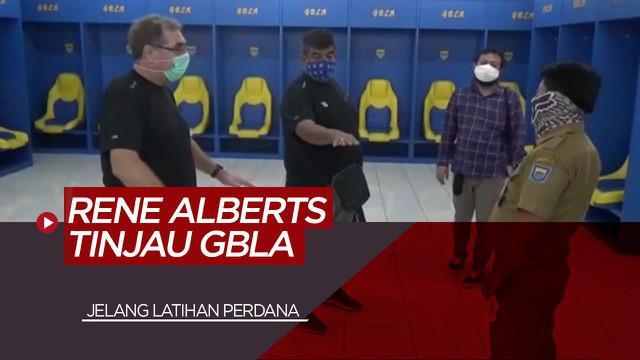 Berita Video Pelatih Persib, Robert Rene Alberts Tinjau Stadion GBLA Jelang Latihan Perdana
