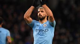 1. Sergio Aguero (Man City) - 18 gol dan 6 assist (AFP/Paul Ellis)