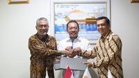 Perusahaan Gas Negara Tbk (PGN) dan PT Krakatau Steel (Persero) Tbk (PTKS) mendatangani nota kesepahaman, Kamis, (20/6/2019)