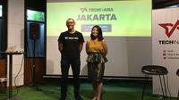 (Ki-ka): COO Tech in Asia Indonesia Putra Setia dan Analis East Venture Elisa Suteja. Liputan6.com/Andina Librianty