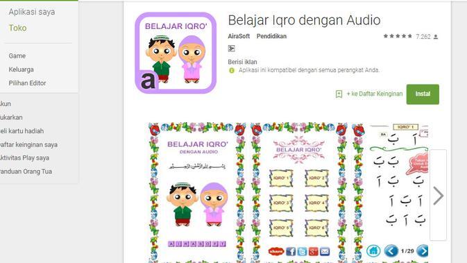 Aplikasi Belajar Iqra Dengan Audio (Liputan6.com/ Agustin Setyo W)