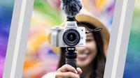 Canon menghadirkan kamera mirrorless EOS M50 Mark II yang ditujukan untuk pehobi fotografi dan pembuat vlog untuk media sosial (Foto: PT Datascrip)