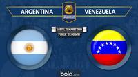Laga Persahabatan - Argentina Vs Venezuela (Bola.com/Adreanus Titus)