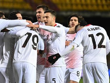 Foto Liga Italia: Diwarnai 1 Kartu Merah, AC Milan Tundukkan Benevento 2-0