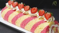 Strawberry Roll Cake, resep kreasi Farah Quinn. (dok. YouTube Farah Quinn)