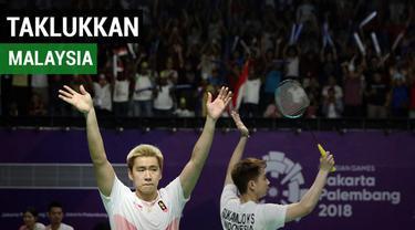 Marcus Gideon / Kevin Sanjaya berhasil melaju ke babak semifinal usai mengalahkan pasangan Malaysia Goh V Shem/Tan Wee Kiong