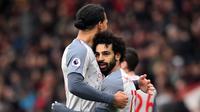 2. Mohamed Salah (Liverpool) - 10 Gol. (AFP/Glyn Kirk)