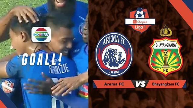 Berita Video Gol Dedik Setiawan Bawa Arema FC Unggul 1-0 atas Bhayangkara FC