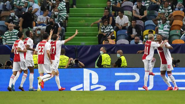 FOTO: Ajax Libas Sporting CP di Liga Champions