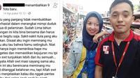 Hubungan berakhir tragis karena pacar selingkuh, postingan curhatan pria ini langsung viral di dunia maya. (Facebook/Irwan Sfr)