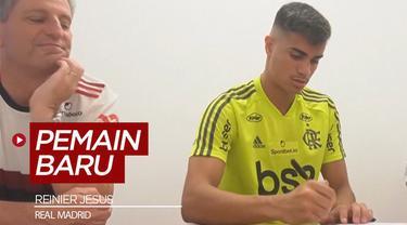 Berita video Real Madrid merekrut gelandang serang dari klub Brasil, Flamengo, Reinier Jesus.