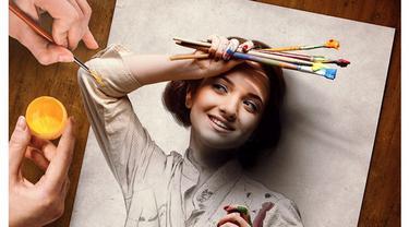 Pria Ini Padukan Gambar Pensil dengan Foto, 5 Hasilnya Nyata Banget