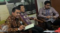 Kepala Kebijakan Fiskal Kementrian Keuangan Suahasil (kiri) menyampaikan pandangannya dalam diskusi menguji efektifitas paket kebijakan ekonomi Jokowi, Senayan, Jakarta, Kamis (10/9/2015). (Liputan6.com/Johan Tallo)