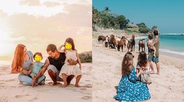6 Potret Liburan Yasmine Wildblood di Nihi Sumba, Ajak Anak Naik Kuda