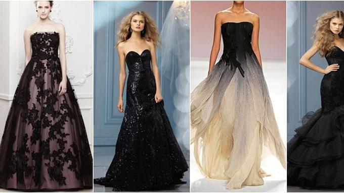 7 Gaun Pengantin Cantik Berwarna Hitam Fashion Fimela Com