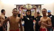 Promotor Milasari dengan V's Boxing Promotions menggelar event tinju amatir dan profesional bertajuk Magelang Big Fghts di GOR Samapta, Magelang, Sabtu (11/8/2018). (V's Boxing Promotions)