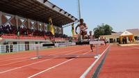 Surabaya kini punya lintasan atletik bertaraf internasional (Liputan6.com/Dian Kurniawan)