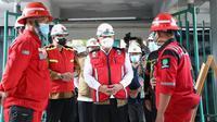 Ketua Satgas Penanganan COVID-19 Ganip Warsito meninjau pembangunan ruang ICU sebanyak 20 kamar di RSUD Dr. Pirngadi, Kota Medan, Provinsi Sumatera Utara, Jumat (6/8/2021). (Dok BNPB)