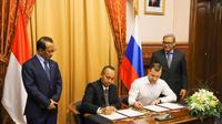 Pengusaha Kabupaten Bogor Tanda Tangani Kontrak dengan Mitranya di Rusia (sumber: Kementerian Luar Negeri RI)