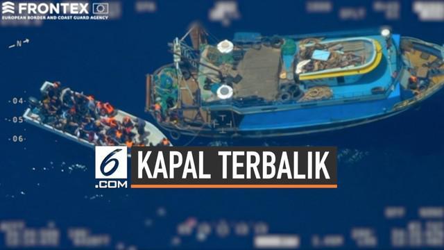 Sebuah kapal yang mengangkut puluhan orang terbalik di perairan Tunisia. Diduga kapal mengangkut imigran yang akan ke Eropa.