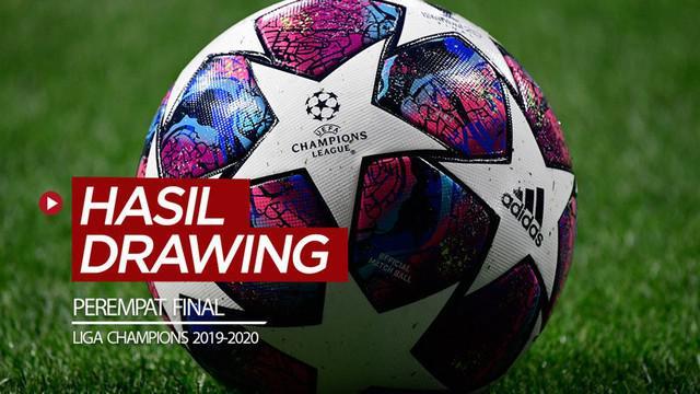 Berita video hasil drawing Liga Champions 2019-2020 untuk babak perempat final, di mana Real Madrid berpeluang menghadapi Juventus.
