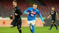 Penyerang Sampdoria, Manolo Gabbiadini. (AFP/Carlo Hermann)
