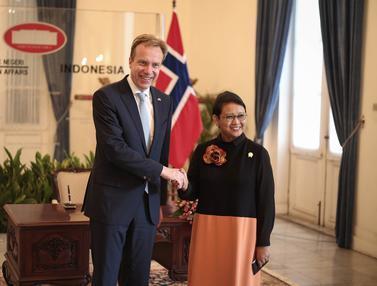 20160530-Menlu RI Retno Marsudi Terima Kedatangan Menlu Norwegia Borge Brende-Jakarta