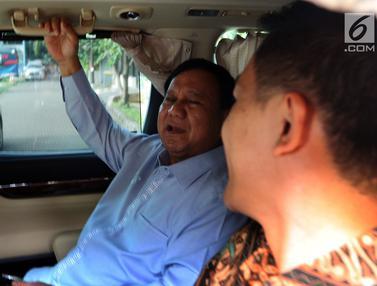Prabowo dan Sandiaga Uno Usai Sambangi Rumah SBY