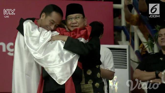 Video Jokowi Prabowo Bersatu Dalam Pelukan Atlet Pencak Silat