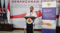 Juru Bicara Pemerintah untuk Penanganan Covid-19, Achmad Yurianto saat update Corona di Graha BNPB, Jakarta, Rabu (25/3/2020). (Dok Badan Nasional Penanggulangan Bencana/BNPB)
