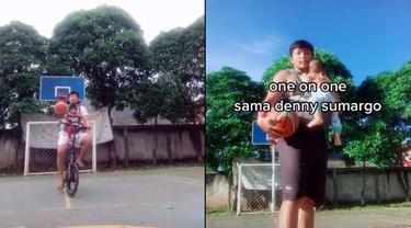 6 Aksi Donny Marito saat Lempar Bola Basket Ini Viral, Saingan Denny Sumargo