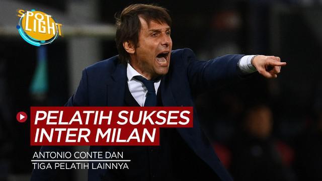 Berita video spotlight tentang empat pelatih Inter terakhir yang berhasil mempersembahkan gelar Serie A.